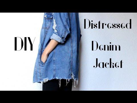 fe90d560c62f DIY Distressed Denim Jacket - Ripped Bottom