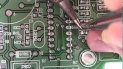 How to solder SMT 0805 resistors capacitors(1/2)