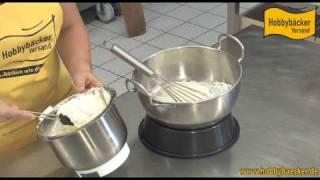 Stabile Sahne für Torten selbstgemacht - HD Qualität