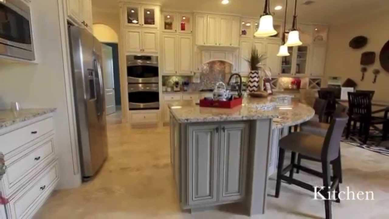 Village builders cross creek ranch model home youtube Kitchen design for village