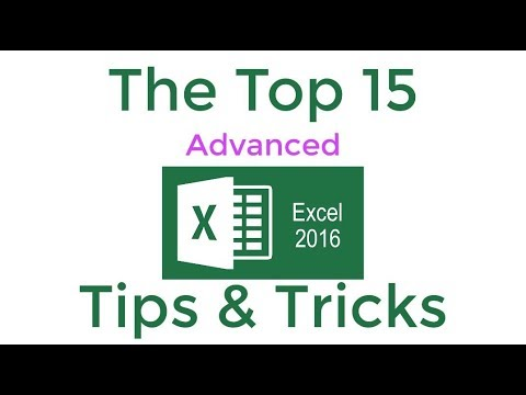 Top 15 Advanced Excel 2016 Tips And Tricks Youtube
