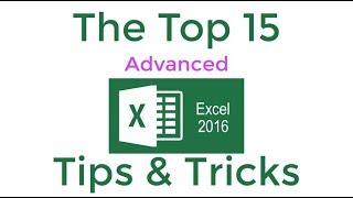 Top 15 Advanced Excel 2016 Tips en trucs