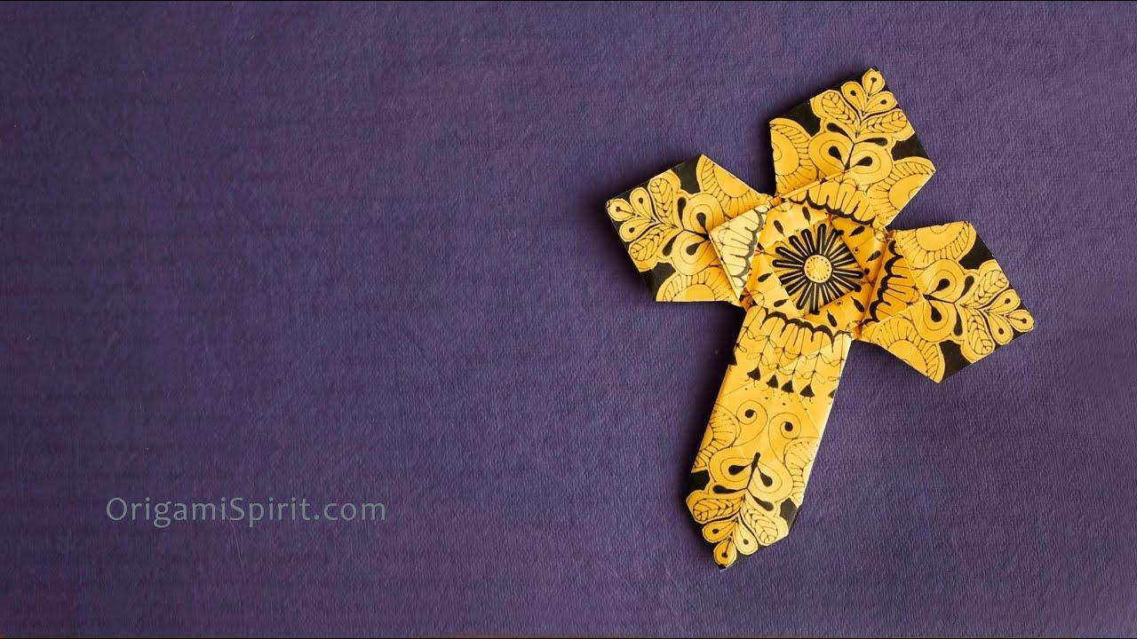 origami cross version 2 cross for easter youtube