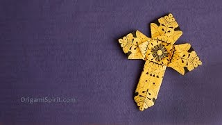 Origami Cross - Version 2 : : Cross for Easter