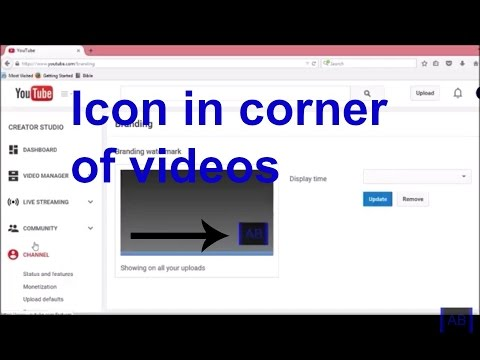 How to add a icon in the corner of your videos
