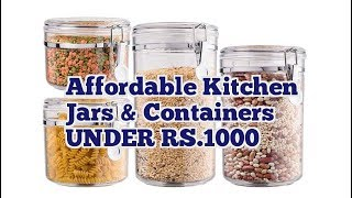 KITCHEN JARS & CONTAINERS UNDER RS.1000 ON Amazon (किचन जार आर्गेनाइजर RS.1000 के अंदर)