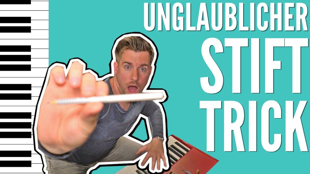 """Klavierspielen lernen in 3 Minuten I UNGLAUBLICHER """"Stift-Trick"""" für ANFÄNGER"""