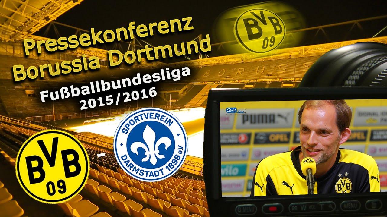 Borussia Dortmund - SV Darmstadt 98: Pk mit Dirk Schuster und Thomas Tuchel