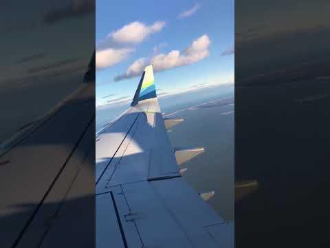 Plane landing at Laguardia airport, New York City