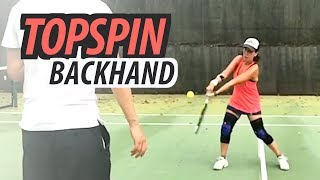 TOPSPIN Backhand - NTRP 3.5 Tennis Lesson (Part 1 of 2)