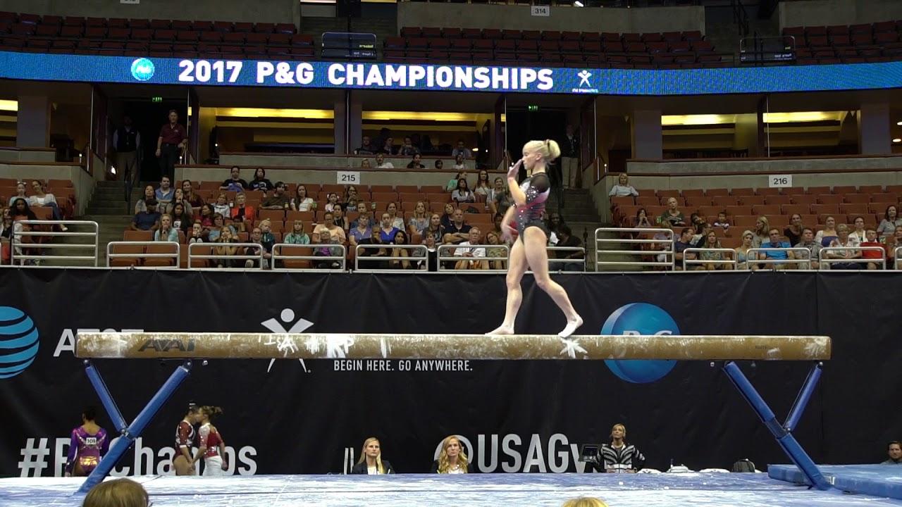 Abi Walker - Balance Beam - 2017 P&G Championships - Senior Wo ...