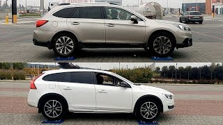 Subaru Outback S-AWD vs Volvo V60 Cross Country AWD - 4x4 test on rollers