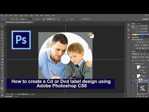 How To Create A Cd Or Dvd Label Design Using Adobe Photoshop CS6