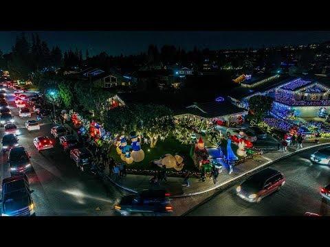 Brea Christmas Lights.Brea Christmas Via Drone