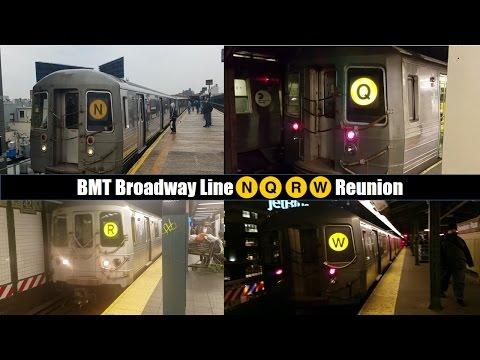 BMT Broadway (N)(Q)(R)(W) Subway Line Action In West Midtown & Astoria, Queens