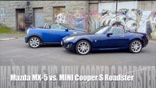 (ENG) Mazda MX-5 Miata versus MINI Cooper S Roadster - comparison, test, review