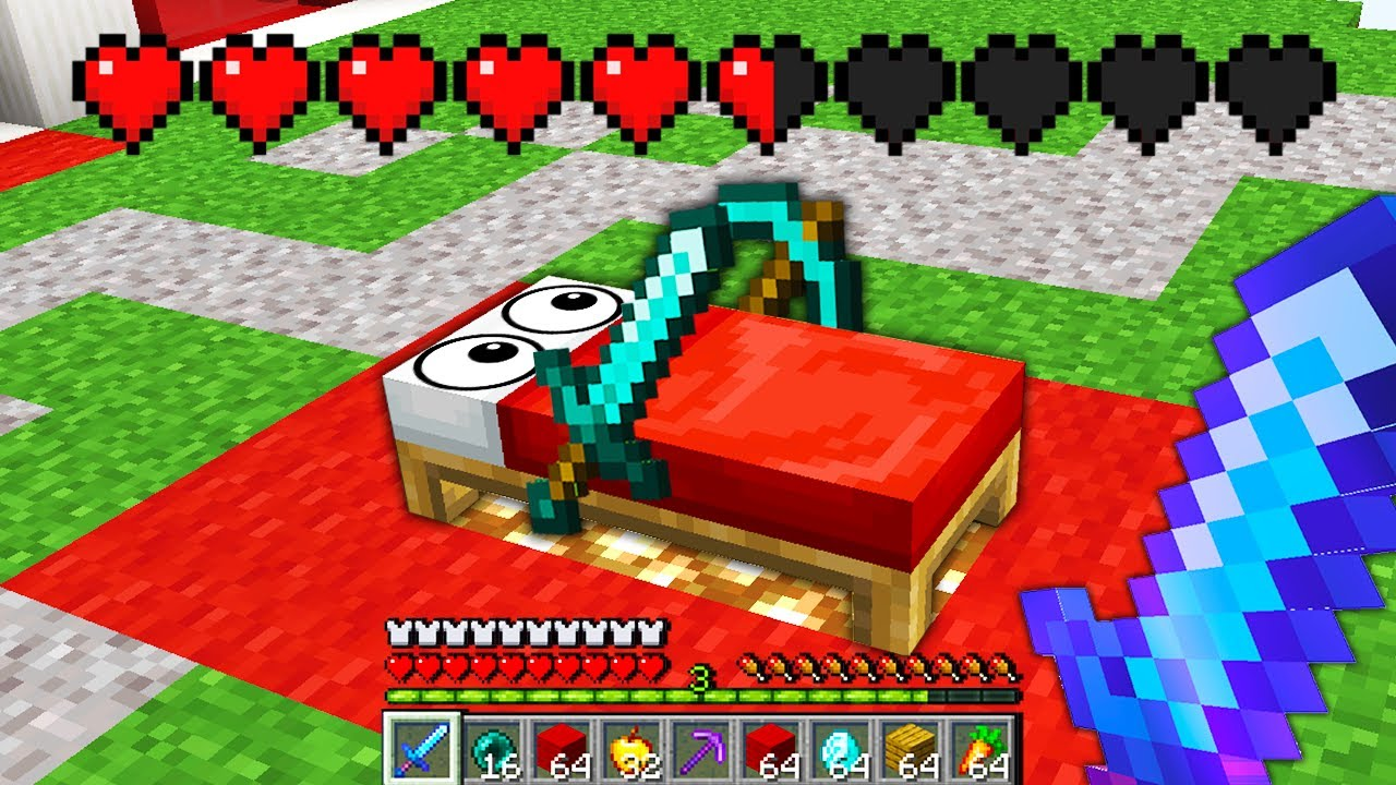Download Minecraft Bedwars but my bed is my friend..