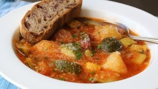 Summer Squash Sausage Stew Recipe - Easy Summer Squash Stew