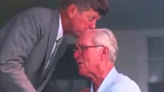 Goodbye Dad - President John F. Kennedy kisses his father goodbye