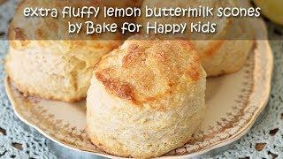 Extra Fluffy Lemon Buttermilk Scones