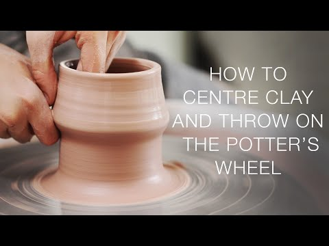 How to Centre Clay and Throw Pots on the Pottery Wheel