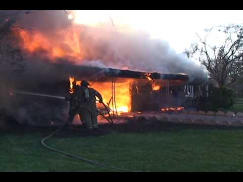 Incredible Fire Conditions At A Gary Indiana House And Attached Garage Fire