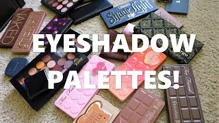 makeup collection and declutter   eyeshadow palettes