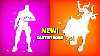 * NEW * Fortnite EASTER EGGS..! (Características secretas)