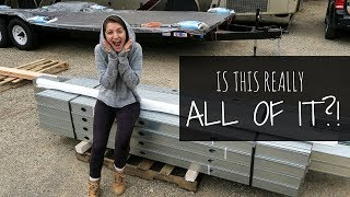 Did We Order Enough?! | How To Build A Tiny House Step By Step | Delivery Day!