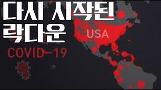 미국 다시 락다운 시작, 하루 확진자 5만3천명!! - 오늘의 뉴스 7월 2일