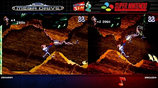 Earthworm Jim 2 | Mega Drive/Genesis & SNES | Comparison - Dual Longplay