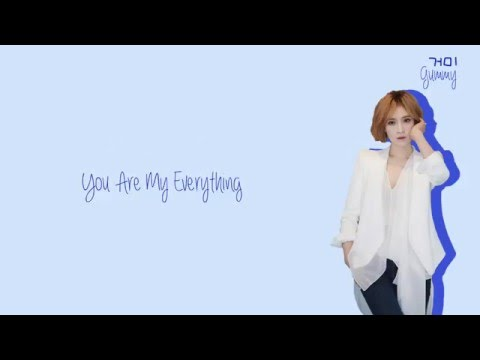 Gummy 거미  You Are My Everything Lyrics HanRomEng