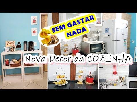Decoração SEM GASTAR NADA - Cozinha e Cantinho do Café