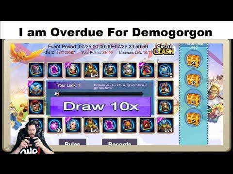 JT's Main 10 Lucky Prospector AT ONCE + Full Bingo Card Castle Clash