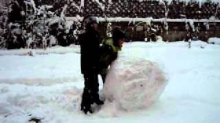 schneemann-hombre de nieve