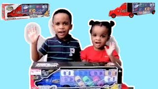 Car Toys Unboxing Video For Kids Top Truck Container Super Race Cars | Cars For Kids