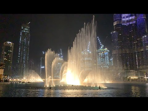 Dubai Mall Dancing Fountain ~ Burj Khalifa | Dubai Mall Fountain Show