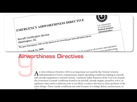 Chapter 9 Airworthiness Directive | Plane Sense General Aviation Information (FAA-H-8083-19a)