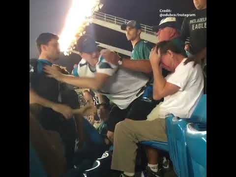 Carolina Panther fan sucker punches man during home game against Philadelphia Eagles
