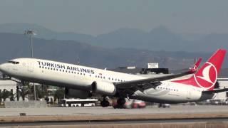 incredible tail strike and go around turkish boeing 737 900 tc jya at malaga agp