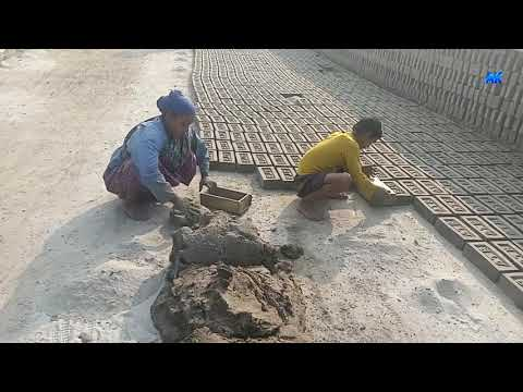 SEE HOW TO MAKE MANUAL CLAY BRICKS BY OUTMODED SYSTEM(PART-53).