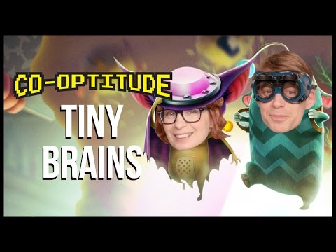 Felicia Day and Ryon Day suck then blow in Tiny Brains, available on Steam on this week