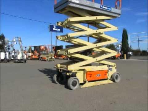 Sold! 2007 JLG 3246ES 32' Electric Scissor Lift Man Aerial AC bidadoo.com