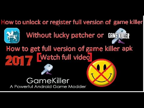 How To Register Full  Game Killer Apk Without Lucky Patcher And How To Get GameKiller Full App Free