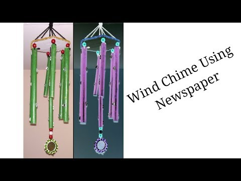 DIY How to Make Wind Chimes Out of Newspaper || Wall Hanging For Home