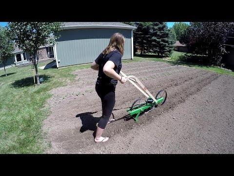 Corn Planting With Hoss Garden Seeder