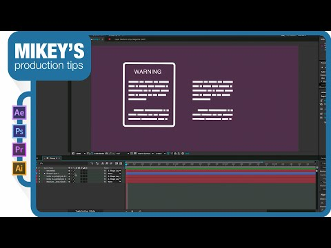Create fake font for Info Graphics in After Effects