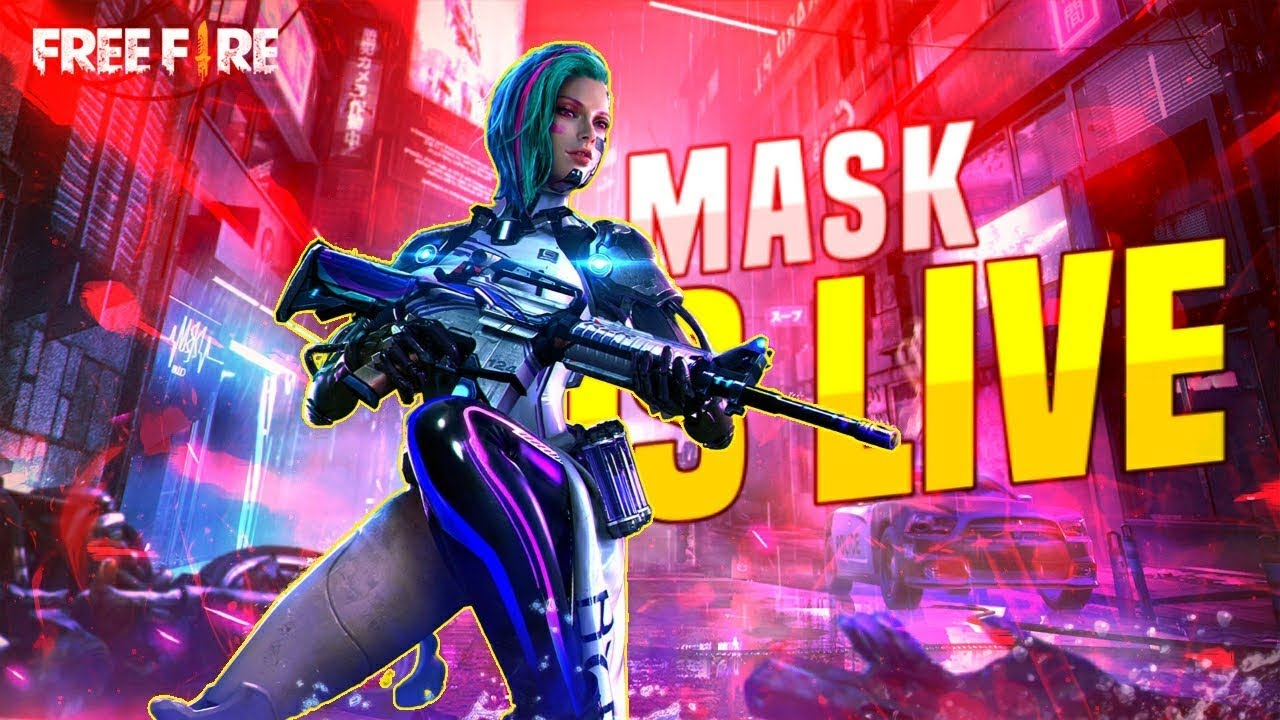 GAMING WITH MASK Live Stream Road to 300k Family ❤️