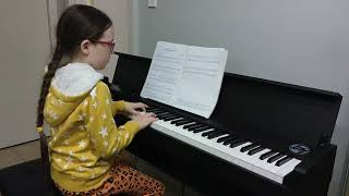 "Mikaela Ryan plays ""Little flower girl of Paris"""