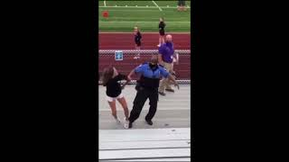 Woman arrested and tazed for not wearing a mask a high school game